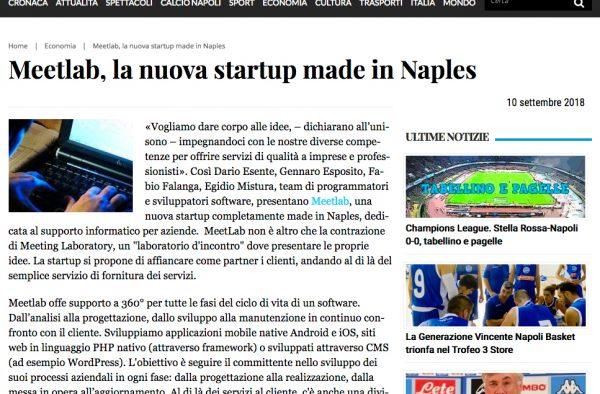Meetlab, la nuova startup made in Naples
